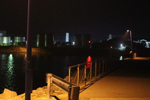 三池港の海水浴場